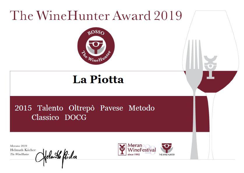 The Wine Hunter 2019 a Talento La Piotta